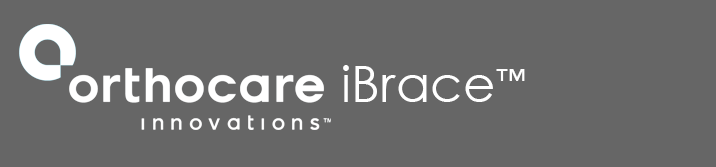 Logo in white gray background: iBrace
